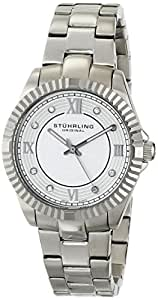 Stuhrling Original Regent Lady Nautic Women's Quartz Watch with White Dial Analogue Display and Silver Stainless Steel Bracelet 399L.22112