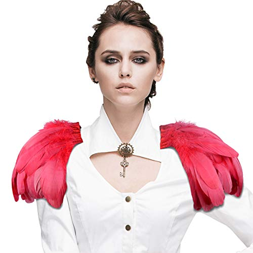 Homelex Gotisch Pink Wirklich Feder Epaulette Schulter Flügel Für Männer Damen ()