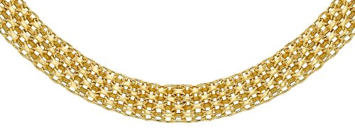 """Carissima Gold 9ct Yellow Gold Bismark Chain Necklace of 46cm/18"""""""