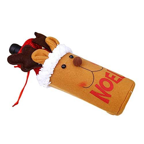 (SPFAZJ Weihnachten Dekoration Neue Weihnachten Tischdekoration alte Mann Wein Flasche Taschen rot Wein Taschen Weihnachten Schneemann Tisch Bar Su Gilt)