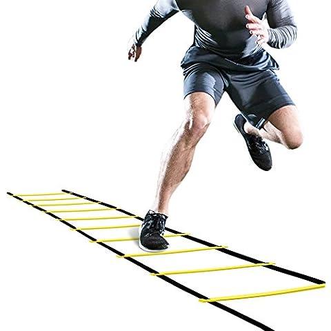 GHB Escalera de Entrenamiento para Agilidad , Fitness , Velocidad de Fútbol - 6 Metros 12 Peldaño