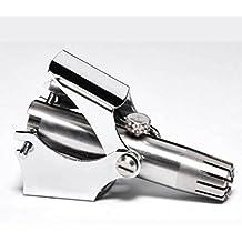 GZD manual de la nariz de pelo del pelo de ajuste con una podadora de uñas como un pequeño regalo, removedor de pelo portátil de la nariz para hombres y mujeres, acabado de acero inoxidable