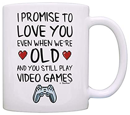 Funny Gamer Gifts I Promise to Love You When Yo...