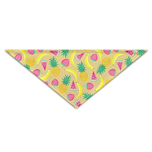 Wfispiy Lovely Pineapple Banana Fruits PrintingDog Birthday Pet Bandana Collars for Dogs and Cats