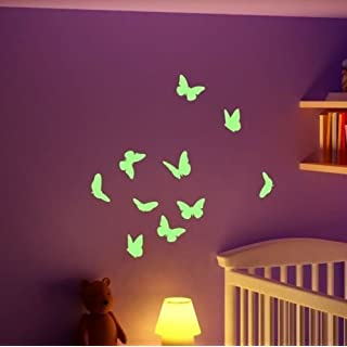 ABCUV Wall Decal Glow in the Dark Butterflies Set Self-Adhesive Sticker