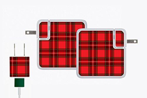 Meo Aufkleber für 12 Zoll MacBook Retina-Ladegerät, in Einzelhandelsverpackung, Holiday Plaid -