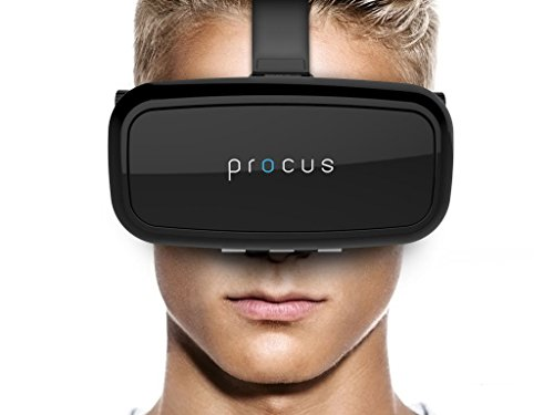 Procus One Virtual Reality Headset 42Mm Lenses For VR Video Gaming, Movies, Pictures - Black