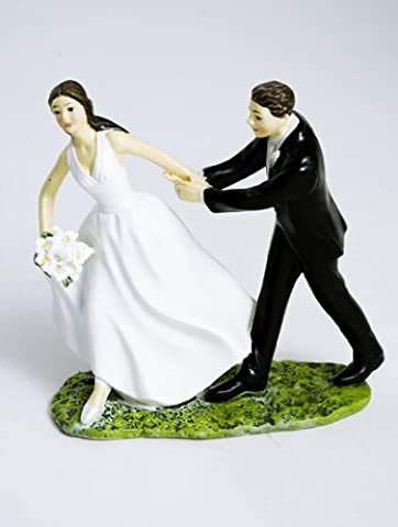 Race To The Alter - Humorous Cake Topper for Wedding Celebrations by Culpitt
