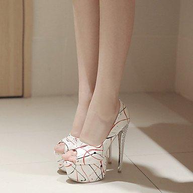 Moda Donna Sandali Sexy donna tacchi Primavera / Estate Autunno / Piattaforma / Comfort PU Party & sera abito / / Casual Stiletto Heel Slip-on nero / verde / rosso Red
