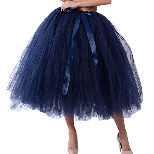 OverDose Damen Carnival Slim Style Frauen Mesh Tüll Tutu Rock Brautjungfer Prinzessin Rock Bubble Mutterschaft Rock Dirndl Masquerade Elegantes Samba-Kleid (Kostüme Paar Mutterschaft)
