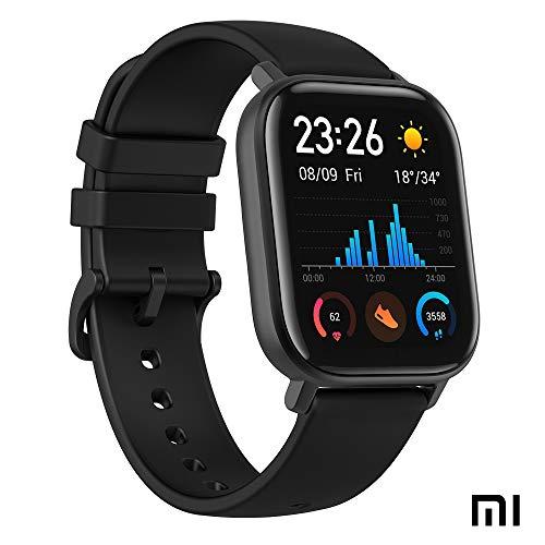 Xiaomi Amazfit GTS Sports Smartwactch Orologio | Activity Tracker | GPS + Glonass | Smart notifications | Frequenza cardiaca | 50m 5ATM | Nuoto | Bluetooth 5.0 (iOS e Android) Black Nero
