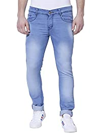 Demokrazy Men's Regular fit Denim Jeans Blue