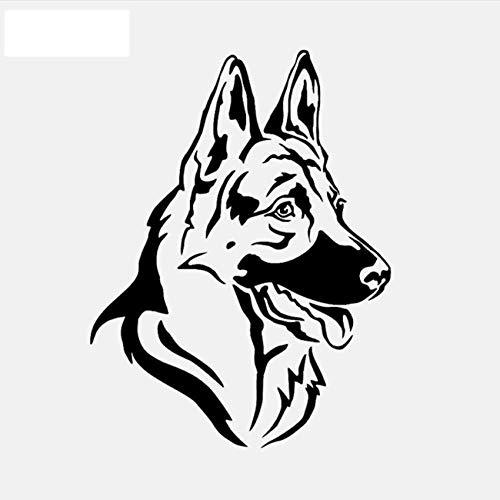 Personalisierte Shepherd Dog Head Tier PVC Abnehmbare Wandaufkleber DIY Spiegel Fenster Poster Tür Zitat Aufkleber Wandbild Kunst Wohnkultur Kinder Kindergarten 45X60 Cm -