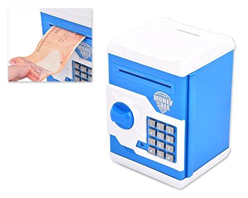 DSstyles Safe ha voluto Money Box Banca dei soldi per i bambini Mini cassaforte Piggy Bank - Blu
