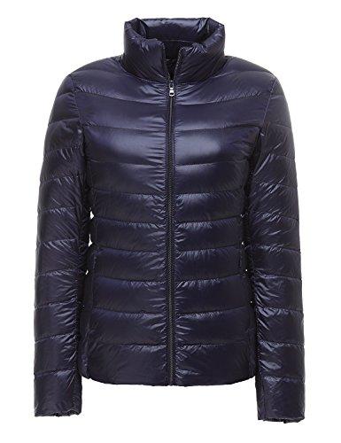 CHERRY CHICK Women's Packable Ultralight Down Jacket (M, Purplish Blue) (Ultralight Down Jacket)