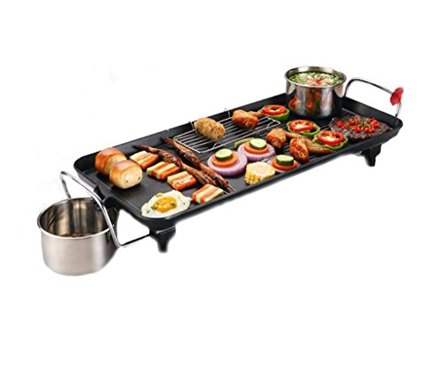Korean Electric Grill Electric Barbecue Backofen Nichtraucher Haushalt Non-Stick Multi-funktionelle Barbecue Machine Outdoor (Tisch Korean Barbecue-grill)