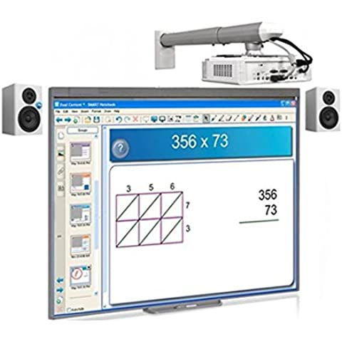 Pizarra Electrónica Interactiva Promethean ABT78D Touch + Proyector OPTOMA XGA X305ST (Corta distancia) HDMI / VGA + Altavoces / Autoamplificables / Potencia 40W /Anclaje a pared.+ Instalación