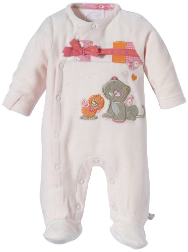 Noukies BB1380133 Pyjama, Rose (Pink), 3 Mois (Taille Fabricant 3M) Bébé Fille