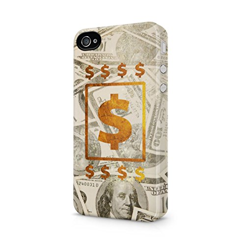 Maceste 100 Dollar Bills Cash Gold Kompatibel mit iPhone 4 / iPhone 4S SnapOn Hard Plastic Phone Protective Fall Handyhülle Case Cover