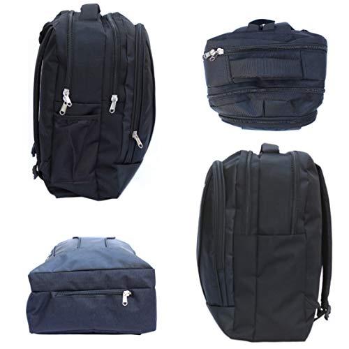DEIN KLEIDER Unisex 40 L Large Capacity Casual/School/Laptop Backpack (Black) Image 6