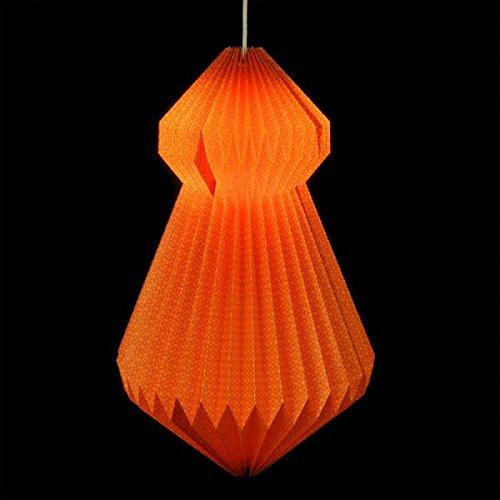Fair Trade Origami luce vestito Almas Neon-Papier paralume/Lampion commercio equo e solidale