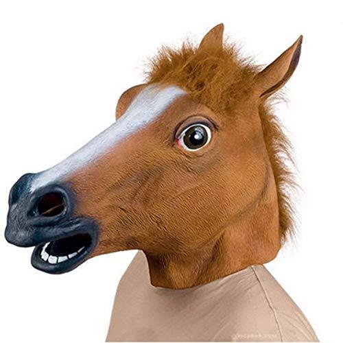WWVAVA Maske Silvester Pferdekopf Maske Tier Kostüm n Spielzeug Party Halloween 2019Neujahr Dekoration, Schokolade