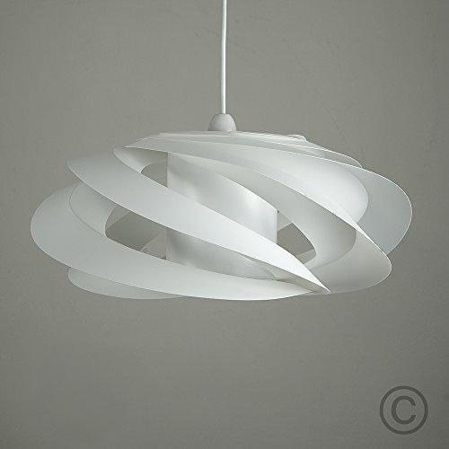 Modern white designer style spiral ceiling pendant light shade modern white designer style spiral ceiling pendant light shade aloadofball Images