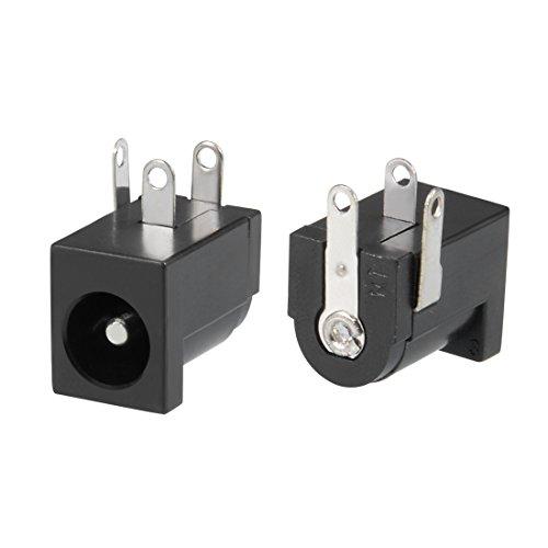 Sourcingmap 15 Stück 5,5 x 2,1 mm 3P DC Power Jack PCB Mount Female Socket Connector Female Cable Mount Socket