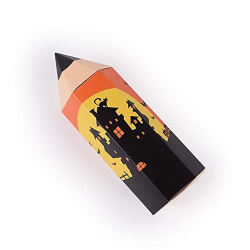 Niedliche Halloween Klassenzimmer Tür Ideen - DSYYF 50er Packung Halloween-Taschen Papier-Leckerlis-Taschen für