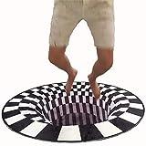 L&WB 3D Magic Hat Runde Wohnzimmerteppich Skandinavisches Kreatives Garderobe Schlafzimmer Tatami Kinder Krabbeln Teppiche,180Cm