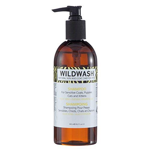 WildWash Haustier Hund Shampoo für empfindliche Mäntel, Welpen, Katzen und Kätzchen, 300ml