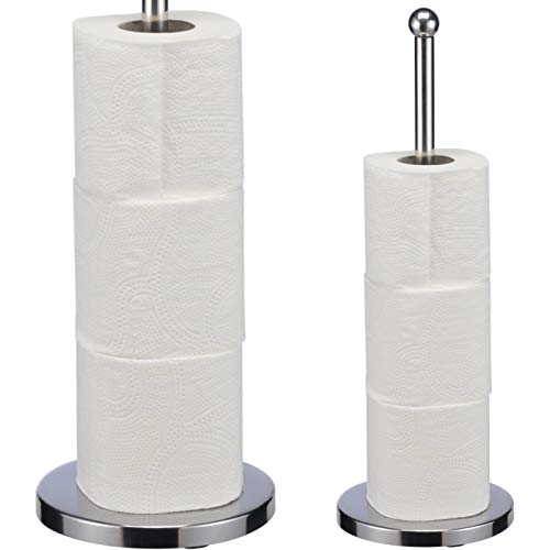 Smartweb WC Ersatzrollenhalter Rollenhalter Toilettenpapierhalter Edelstahl Wandmontage Bad Zubehör