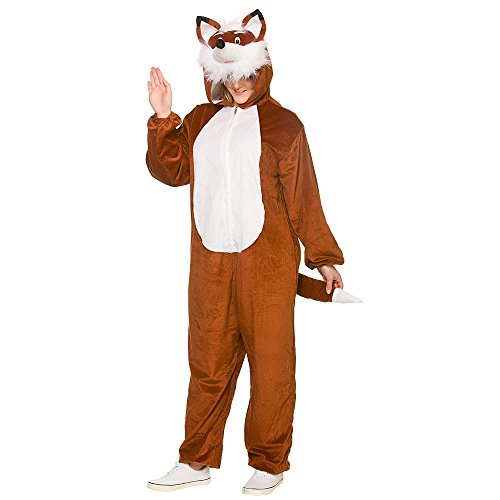 Deluxe Costume Adult Animal FOX For Fancy Dress -