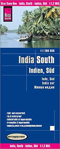 Reise Know-How Landkarte Indien, Süd (1:1.200.000): reiß- und wasserfest (world mapping project)
