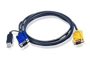 ATEN Câble KVM 2L-5203UP USB/VGA vers SPHD 3m