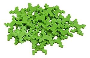 INCASTRO Rígida 014VR-Juegos de construcción rígida Cube L, 60Unidades, Verde