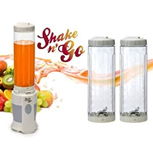 Shake N Go SNG-0002 Blender pour Smoothies avec 2 Bouteilles