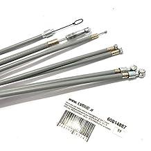 Serie cables con teflón interior transmisión gris 7 piezas freno embrague acelerador para Vespa 50 90