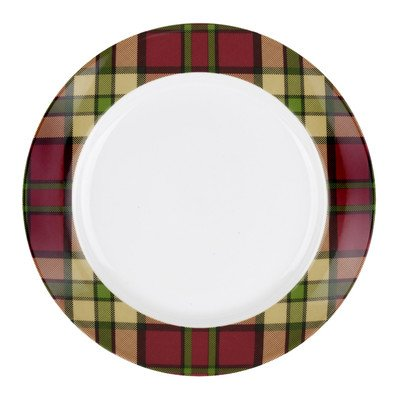 Spode Glen Lodge - Dessert/Salad Plate Red Tartan, Set of 4