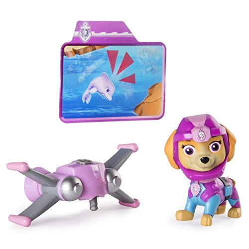 Nickelodeon Paw Sea Patrol Light-up Skye Figure with Pup Pack and Mission Card