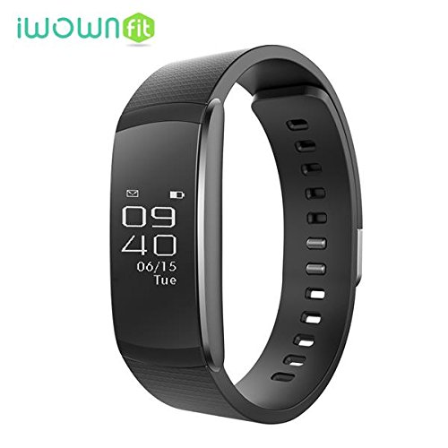 OMNiX™: IWOWN I6 Pro Smartband 24h Heart Rate Monitor Fitness Tracker Sleep Monitor Wristband OLED Screen Bluetooth Waterproof Smartwatch Muti-Sport Management For Iphone IOS8. 0 / Android 4. 3 , Black