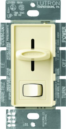Lutron SLV-603P-AL Skylark 450-watt 3-Way Electronic Low-Voltage Dimmer, Almond by Lutron (Dimmer Skylark)