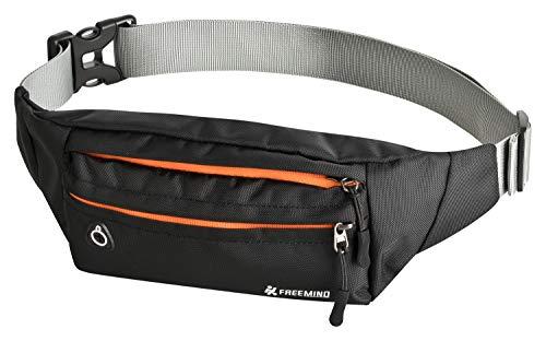 Freemind Sport Bauchtasche Hüfttasche Gürteltasche - geeignet für alle Outdoor-Aktivitäten - 3 Fächer - für Handy und Wertsachen (Sport-kopfhörer Nike)