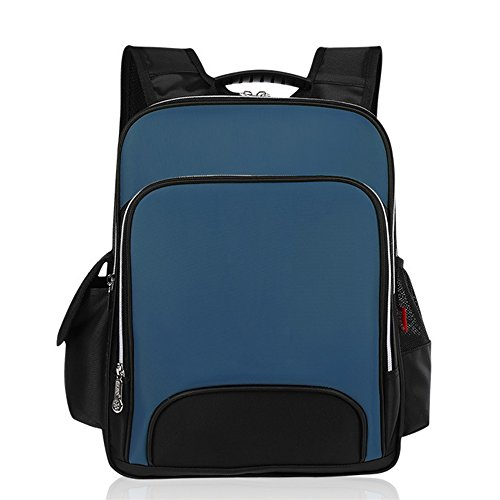 KINDOYO Jungen Mädchen Wasserdichte Rucksack für Kinder Unisex Schulrucksäcke Rucksack für Reisen, Wandern Deep Blue-L