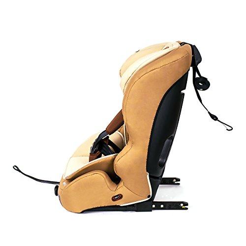 Kinderkraft Safetyfix Kinderautositz mit Isofix 9-36 kg Gruppe 1 2 3 Beige -