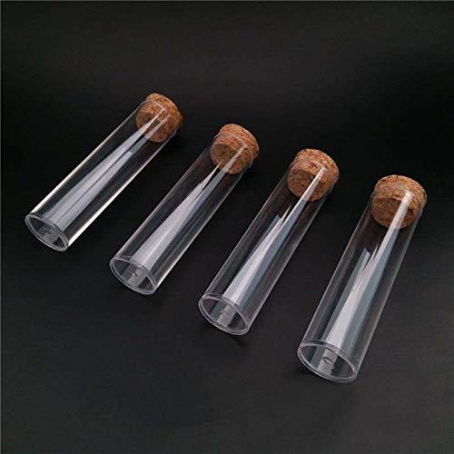 K-Fang-test, 10 Teile/Paket 25x95mm Flachboden Tee Kunststoff Reagenzglas Drosophila Fläschchen Kultur Rohr mit Korken