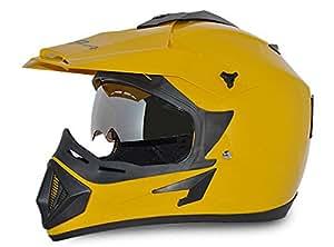 Vega Off Road OR-D/V-Y_M Full Face Motocross Helmet (Yellow, M)