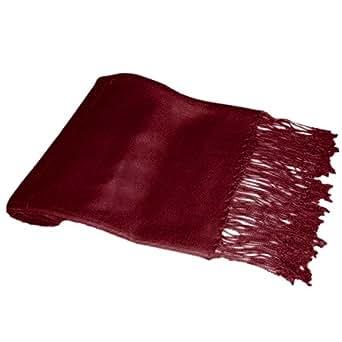 Ladies Soft Plain Viscose Pashmina Scarf Shawl Wrap Stole Burgundy