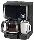 Kaffeemaschine und Teemaschine Duo 2 in 1 - Besonders platzsparender Kaffee und Teebereiter mit Glaskanne und Porzellan Tasse - Rasend schnell duftenden Filterkaffee und perfektes Tee Wasser zaubern