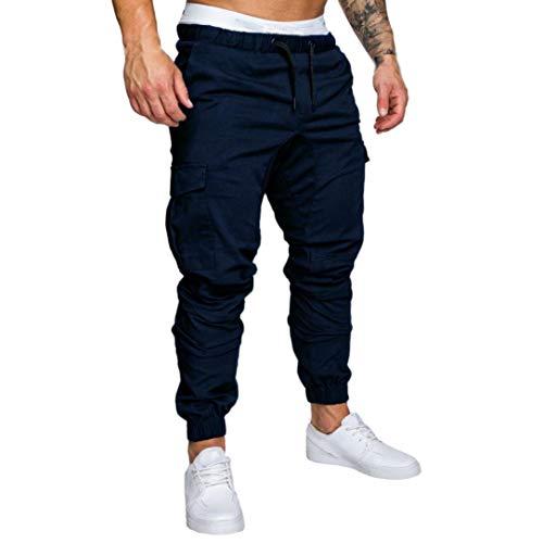 LiucheHD Uomo Pantaloni Cargo Pantaloni Tattici Militari Uomo, Pantaloni da Lavoro Uomo per Uso Stagioni Casual, Sport, Viaggio di Cotone
